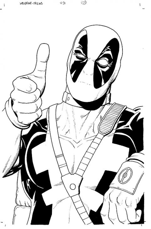 Deadpool Coloring Page Superheroes Coloring Pages Pinterest
