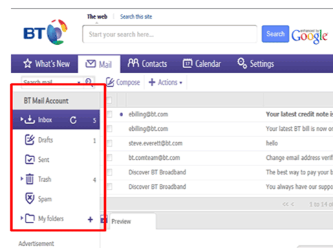 Easily Creating And Managing Folders In Your Bt Mail With Images