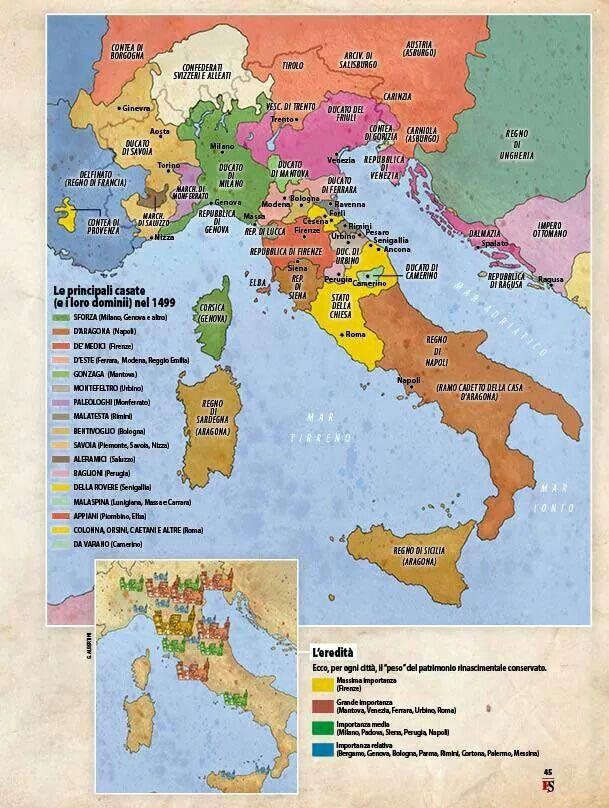 Cartina Italia Nel 500.L Italia Nel Rinascimento 1499 Mappe Leonardo Da Vinci Impero