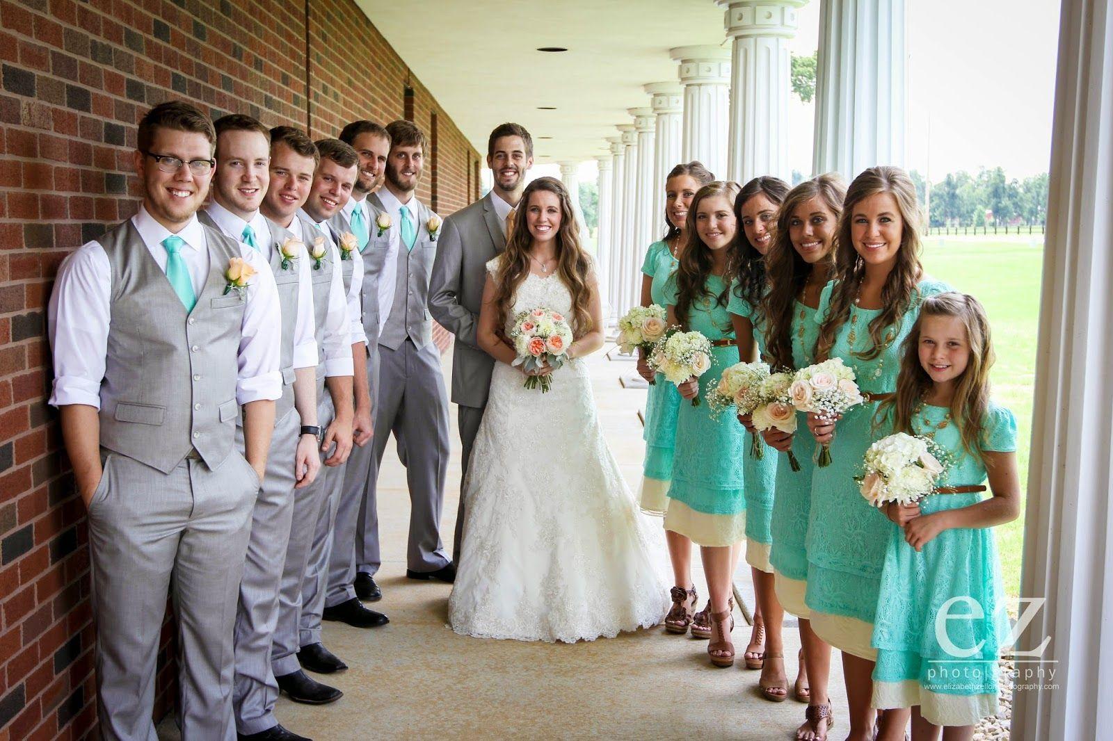 Photos Dillards First Look Wedding Party Duggar Wedding