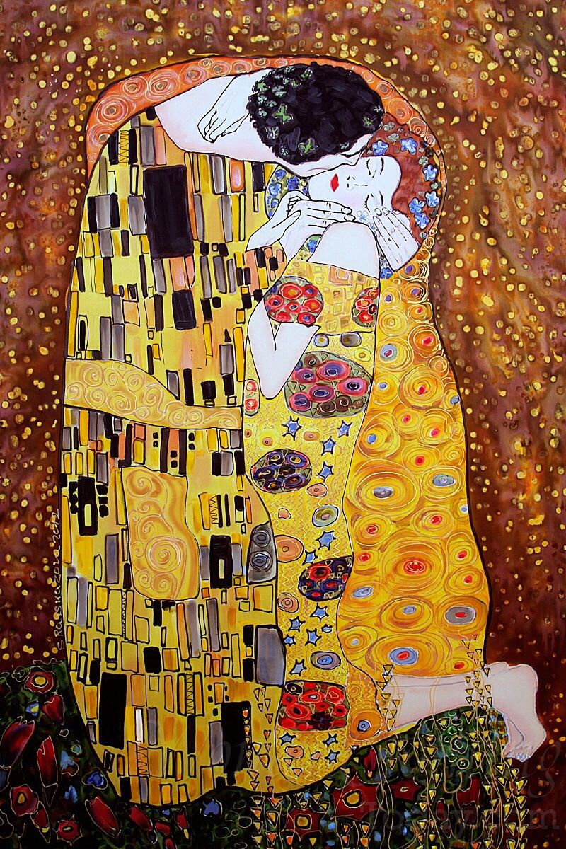 Gustav climb   The Kiss in 2019   Painting, Klimt, Silk ...