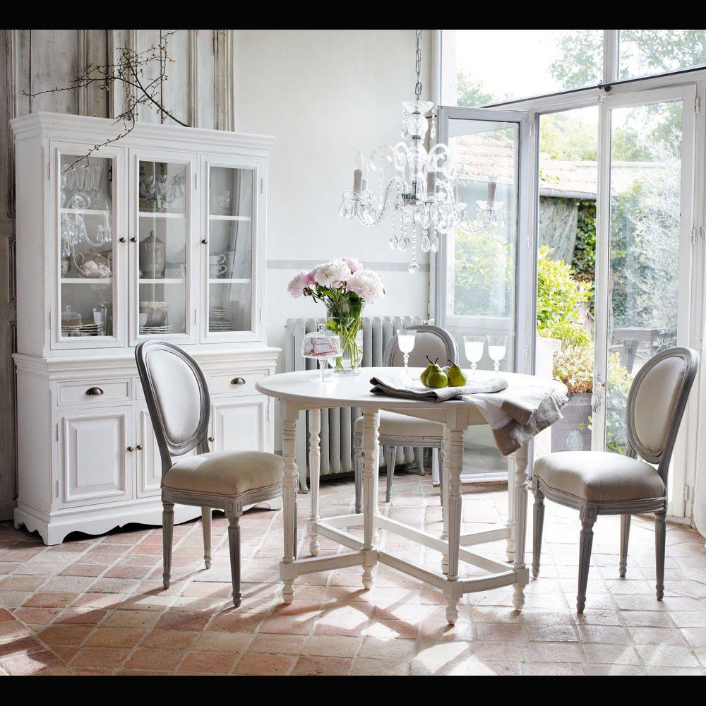 White Paulownia Dresser Salle à manger romantique