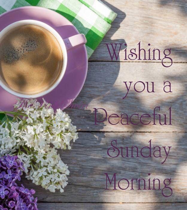 Wishing You A Peaceful Sunday Morning Morning Good Morning Sunday
