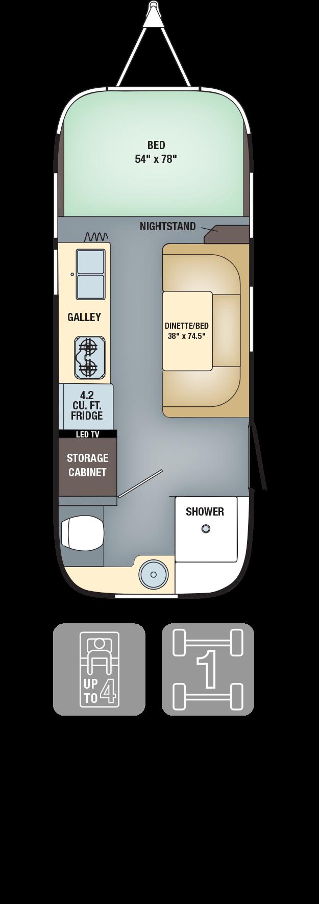 Floorplans Airstream Dreamin Airstream Sport