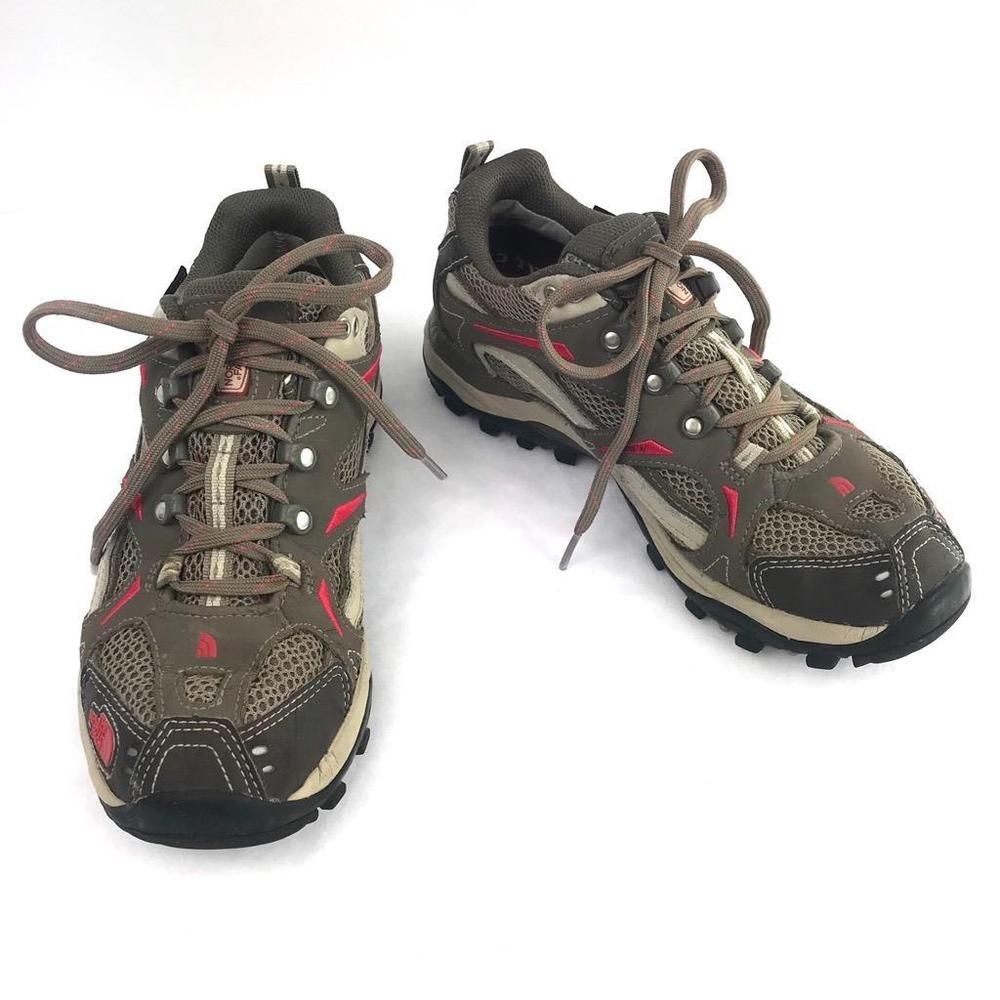 excellent quality order online affordable price The North Face Hedgehog Hiking Shoe Size 8 XCR III Khaki Red Gore ...