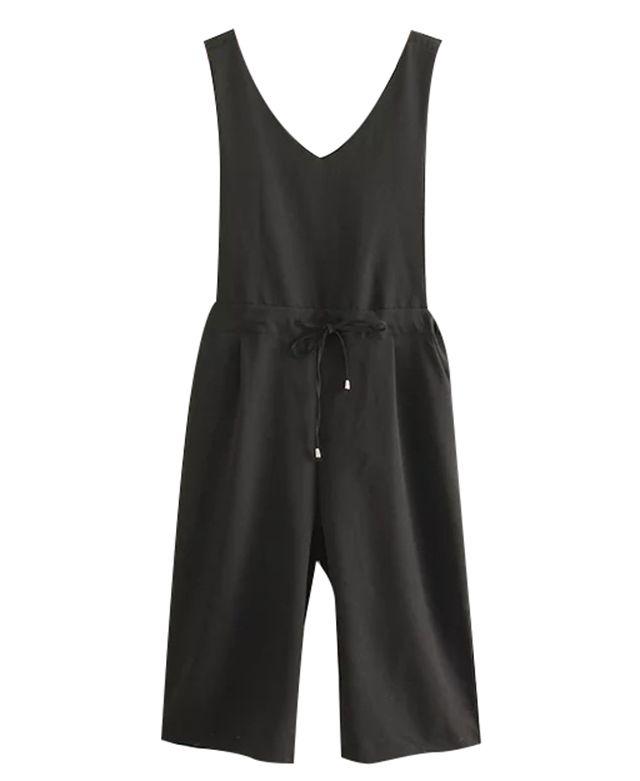 Sleeveless Crop Overall Pants