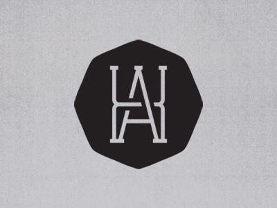 Ah Monogram Personal Logo Design Monogram Logo Badge Design