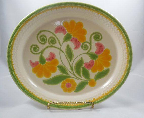 Platter FRANCISCAN Made In USA/Bright by savannahsecretcellar