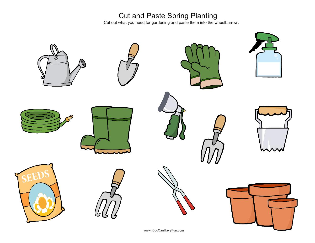 Cut And Paste Spring Gardening