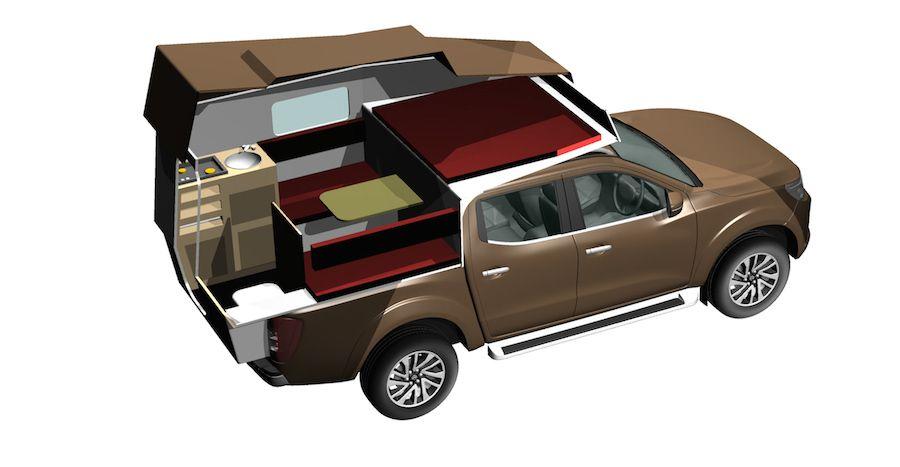 cellule custom camp interieur camper. Black Bedroom Furniture Sets. Home Design Ideas