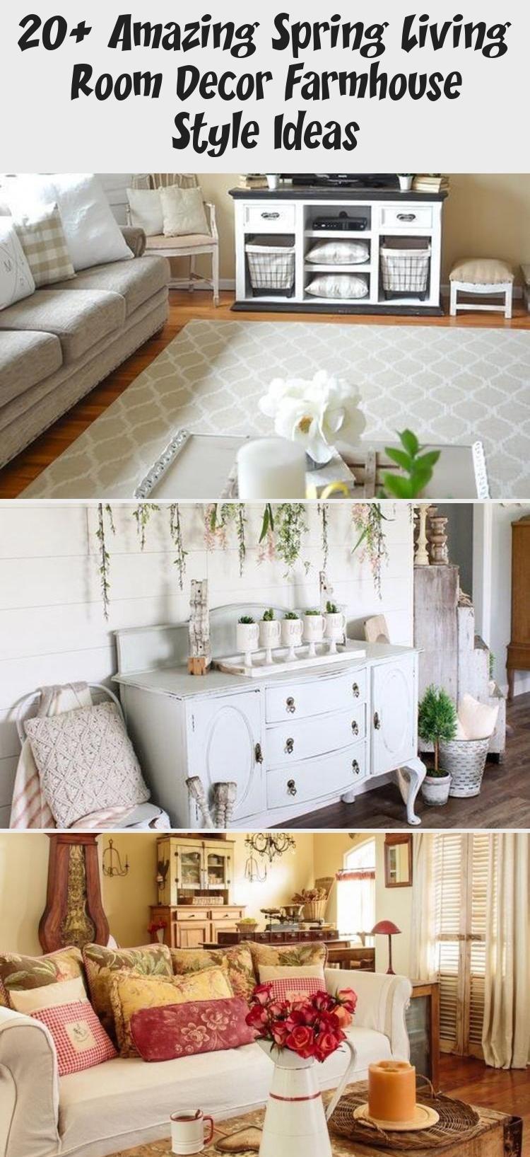 20 Amazing Spring Living Room Decor Farmhouse Style Ideas