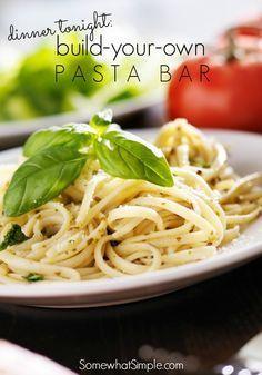 Pasta Bar   Recipe   Pasta bar, Dinner, Pasta bar party