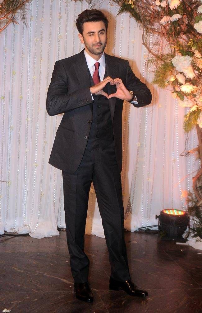 Ranbir Kapoor At Bipasha Basu Karan Singh Grovers Wedding