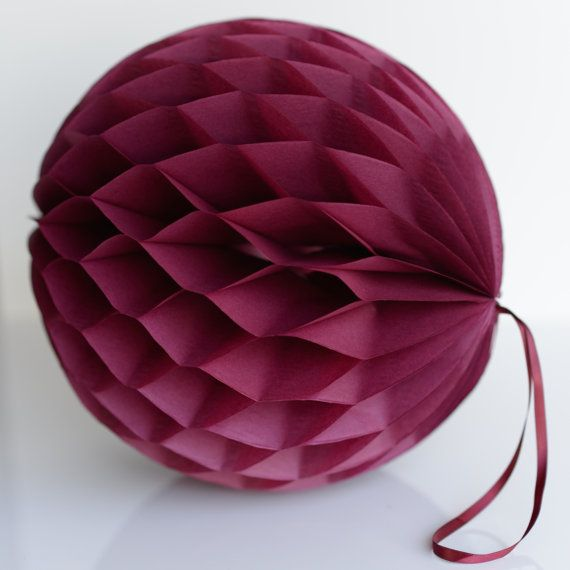 Several Colours Available Paper Honeycomb Balls Hot Pink 25CM Pack of 3 10