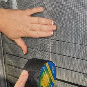 Ordinaire Finally A Way To Repair Your Window Screens And Screen Doors. Screen Repair  Tape, In Silver Or Black. $12.98