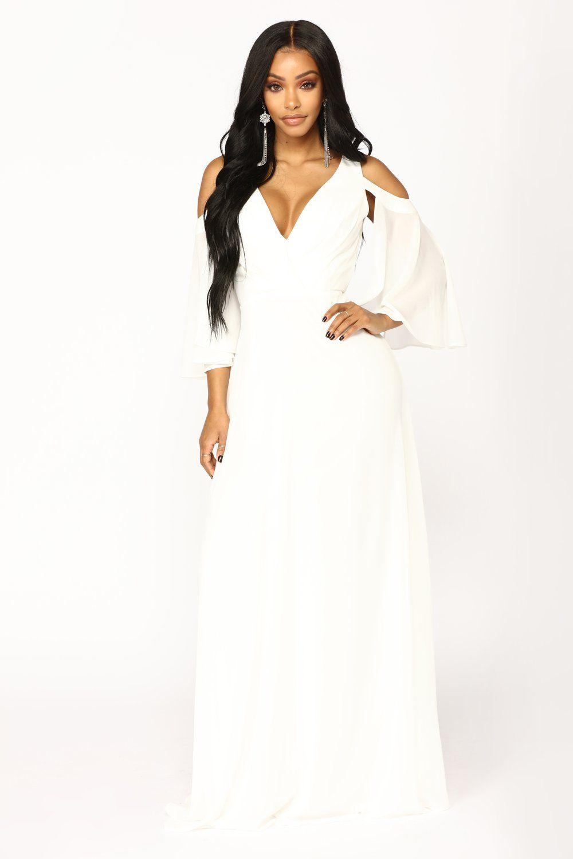 3c49b4d572a9 Debutante Ball Chiffon Dress - White in 2019 | TURNING A FASHION ...