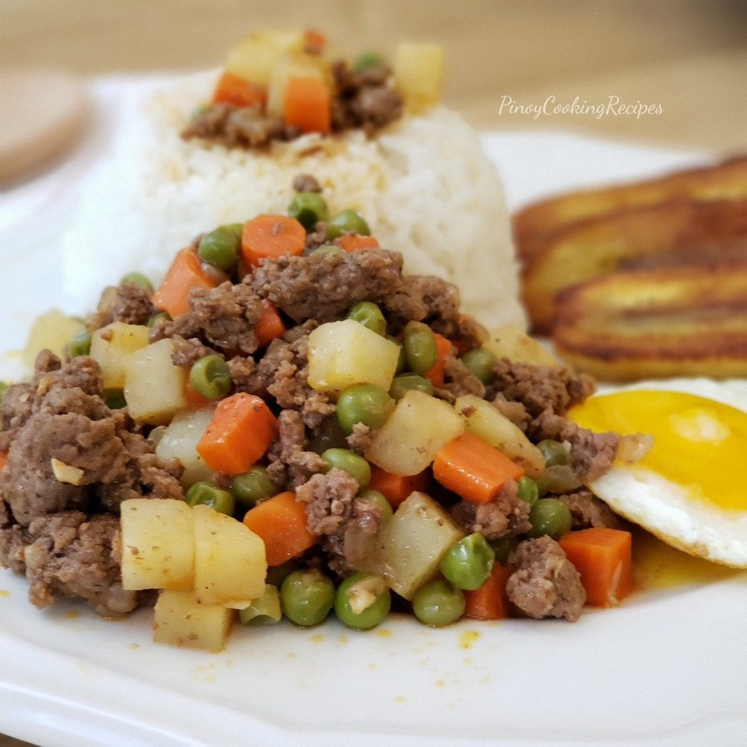 Picadillo Pinoycookingrecipes In 2020 Pork And Beef Recipe Recipes With Ground Pork And Beef Picadillo