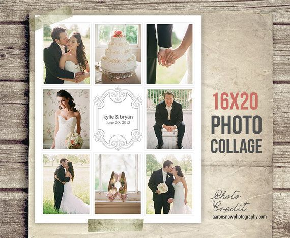 Wedding Collage Blog Board - Wedding Photo Collage Poster ...