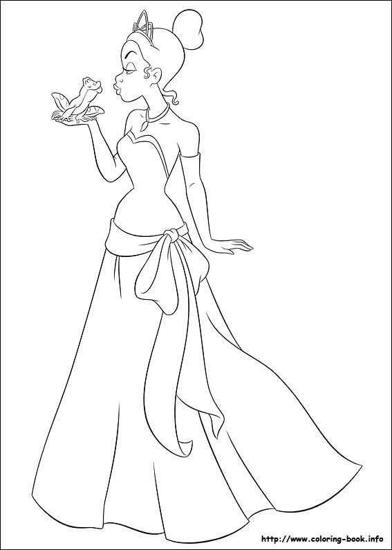 The Princess And The Frog Coloring Picture Princess Coloring Pages Disney Princess Coloring Pages Frog Coloring Pages