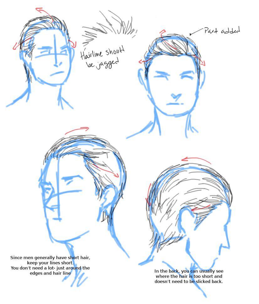 Slicked Back Hair Tutorial By Aerorwen On Deviantart Drawing Hair Tutorial How To Draw Hair Slicked Back Hair