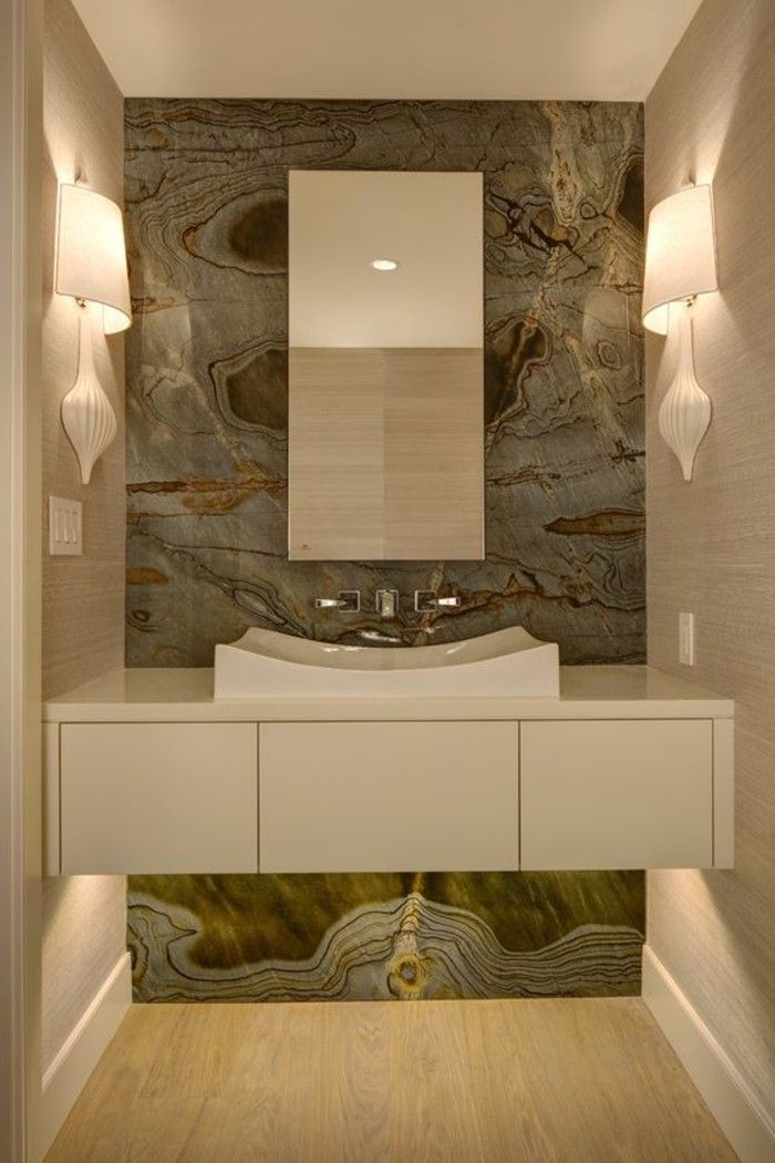 Moderne Waschbecken Beige Erdfarben