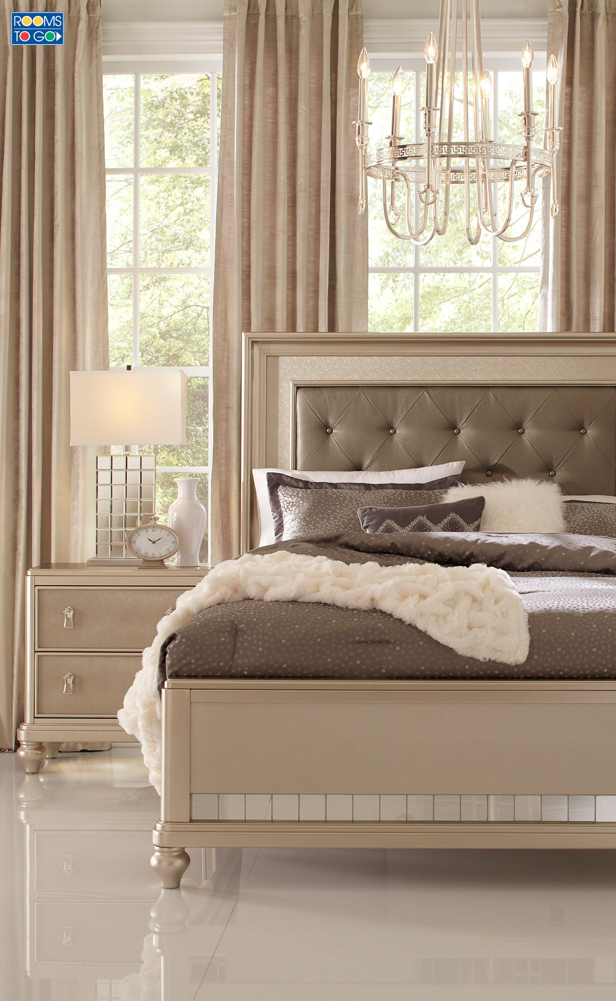 Sofia Vergara Paris Silver 5 Pc Queen Bedroom In 2019 My