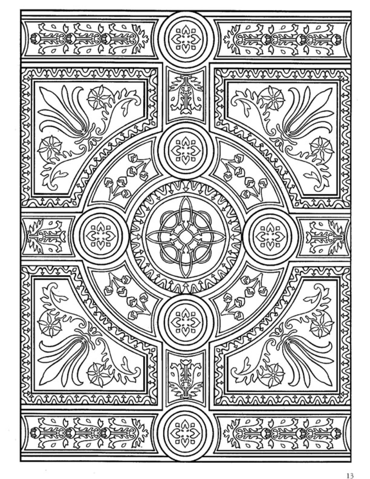 Dover Decorative Tile Coloring Book | Cool coloring pages ... - photo#24