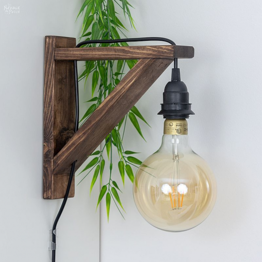 Diy Corbel Sconces With Free Plans How To Make Corbel Wall Sconce For Under 25 Diy Bedroom Lighting In 2020 Bedroom Lighting Diy Modern Farmhouse Diy Diy Lighting