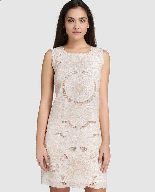 Vestido corto de mujer Petite con trabajo bordado · Petite · Moda · El Corte Inglés