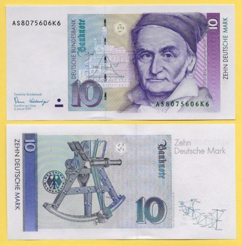 Germany 10 Deutsche Mark P 38a 1989 Unc Https Rover Ebay Com Rover 1 711 53200 19255 0 1 Ff3 2 Toolid 10040 Campi Currency Design Bank Notes Money Collection