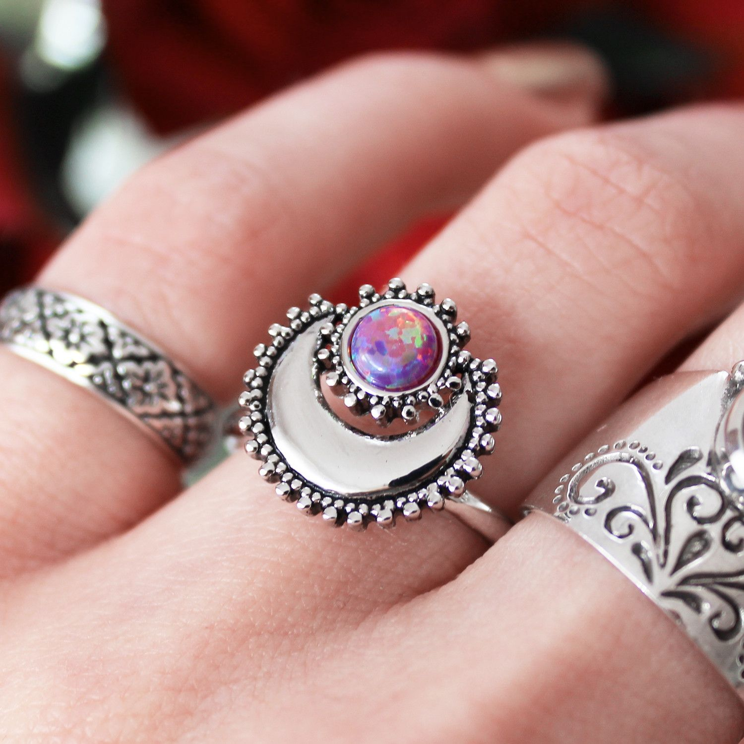 Moonshine Lavender Opal Ring | Accessories | Pinterest | Opal rings ...