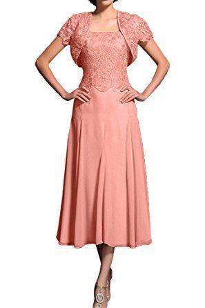 Promgirl House Damen Elegant A-Linie Spitze Brautmutter