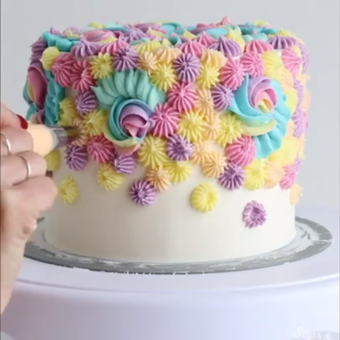 Magical Birthday Cake  #cakedecoratingvideos
