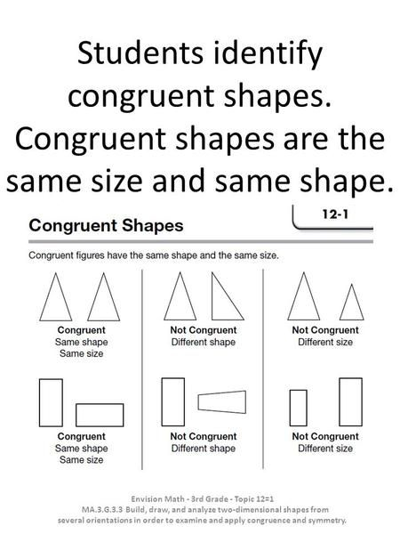 Students Identify Congruent Shapes Math Practice Worksheets Shapes Worksheets Third Grade Math Worksheets Congruent and similar figures worksheets