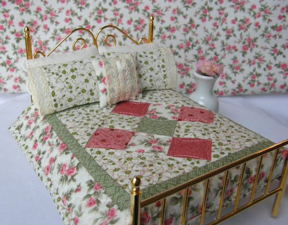 Miniature Quilt with 2 Matching Bed by TheLittleQuiltShoppe, $42.00