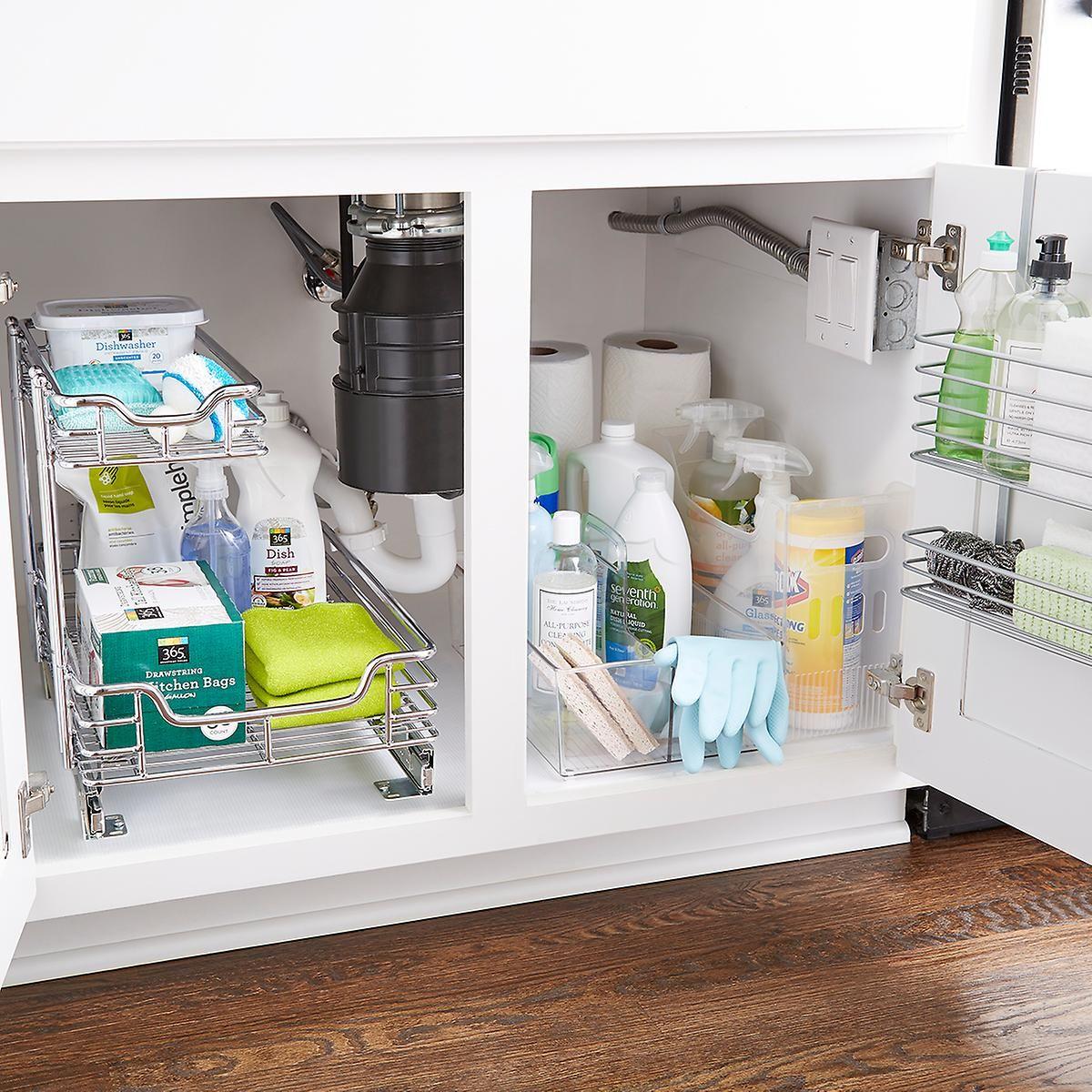 Under Sink Organization Starter Kit Under Sink Organization Sink Organizer Kitchen Cabinet Storage