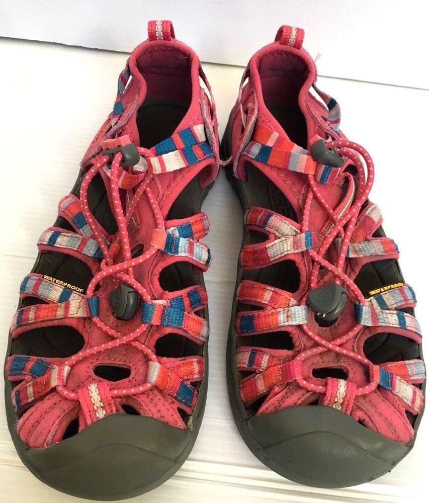 KEEN Girl s size 4 EU 36 Whisper Youth Sandal Walk Sport Hike Shoes Pink  Stripe  KEEN  Sandals
