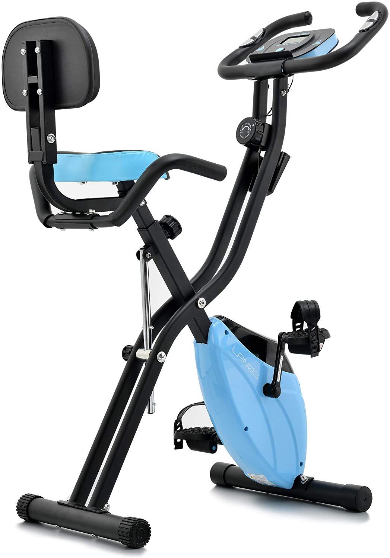 Folding Exercise 10 Level Adjustable Magnetic Resistance Upright Recumbent Foldable Stationary Bik In 2020 Biking Workout Recumbent Bike Workout Folding Exercise Bike