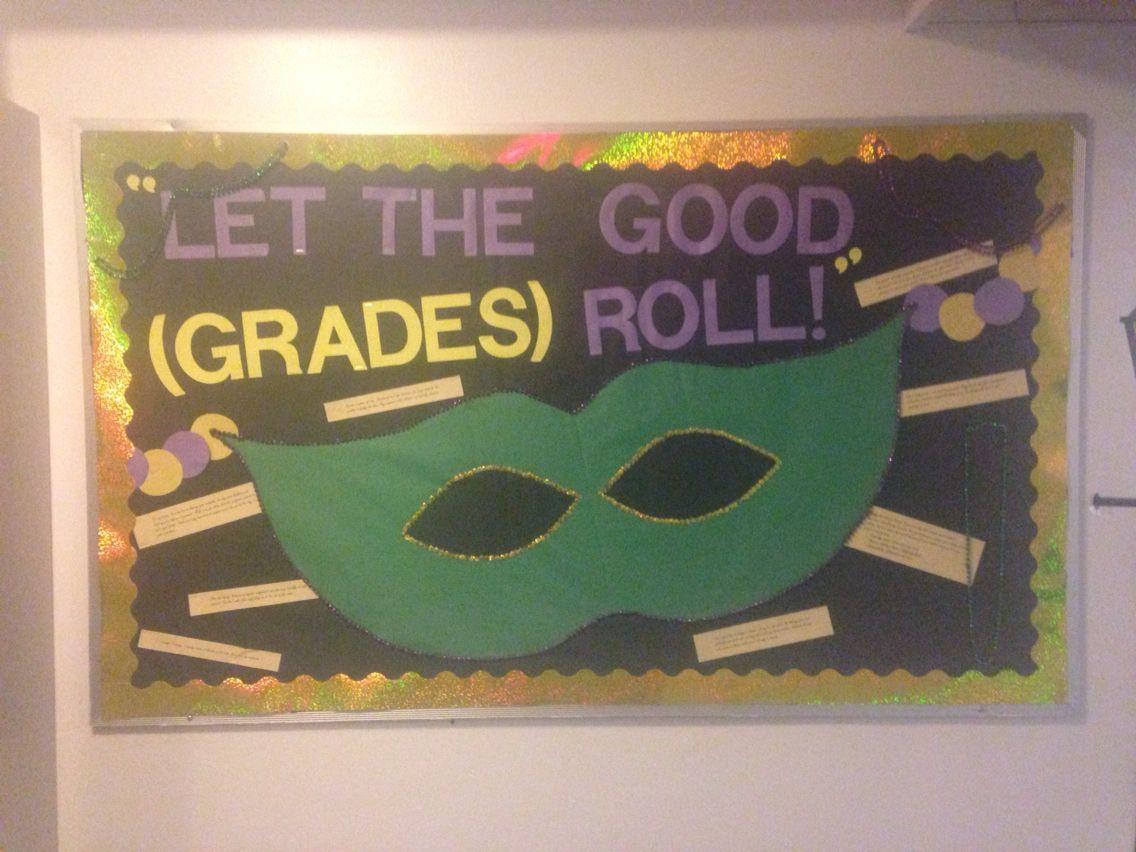 Mardi Gras Themed Bulletin Board
