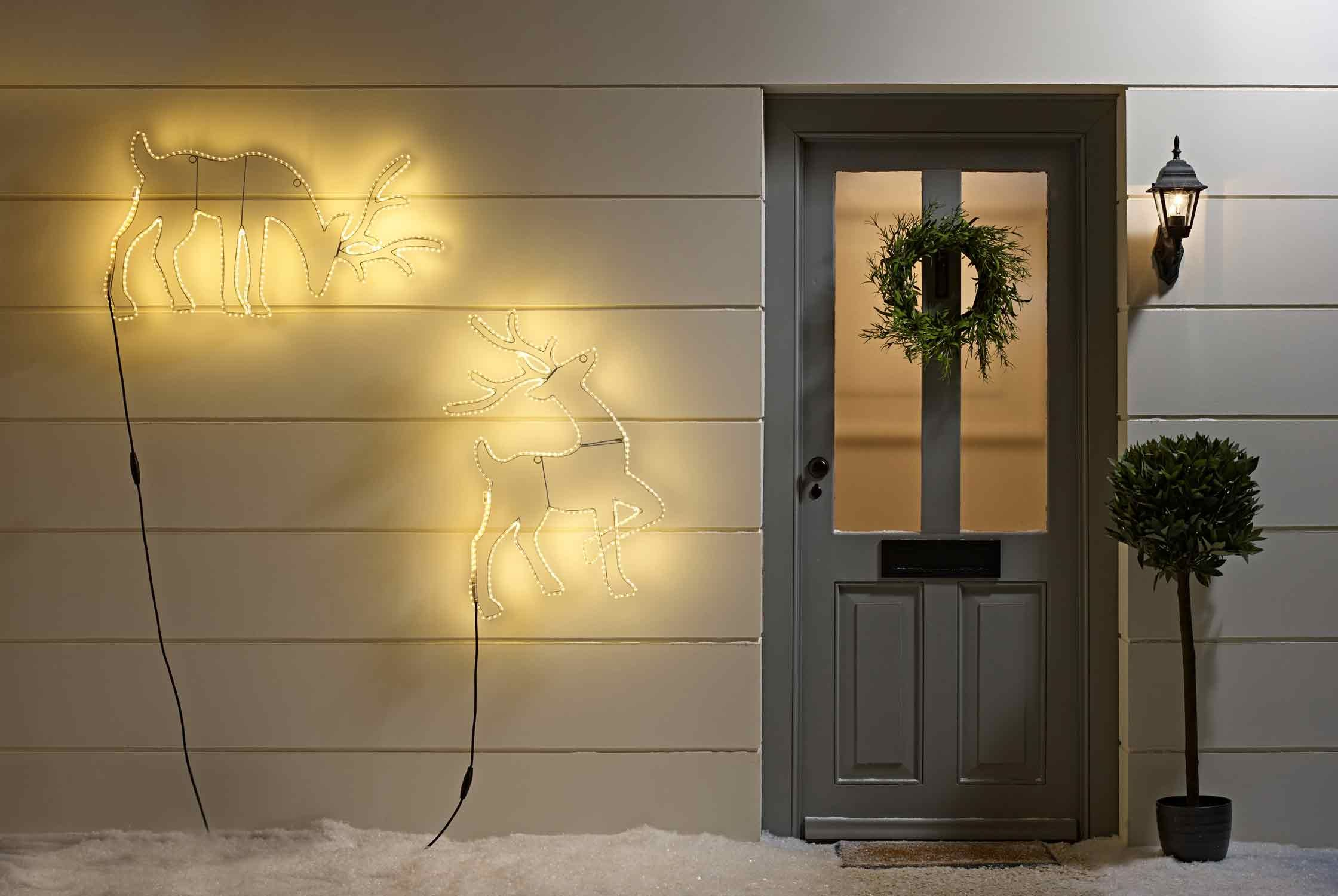 Christmas House Lighting Ideas | Christmas houses, Reindeer ...