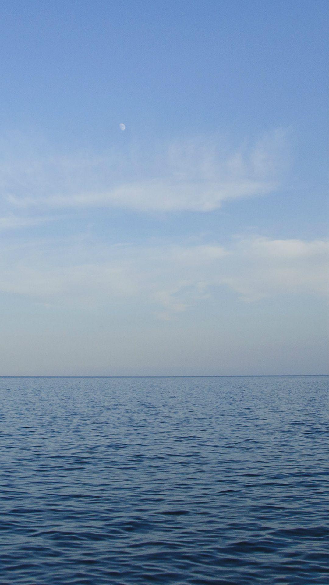 Wallpaper iphone sea - Sea Blue Ocean Sky Nature Iphone 6 Plus Wallpaper
