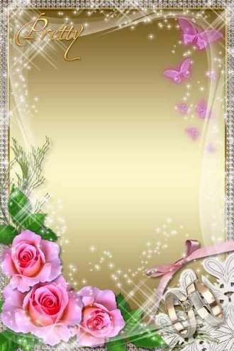 wedding photoframe pretty bride free wedding photo frame psd free download - Download Picture Frames