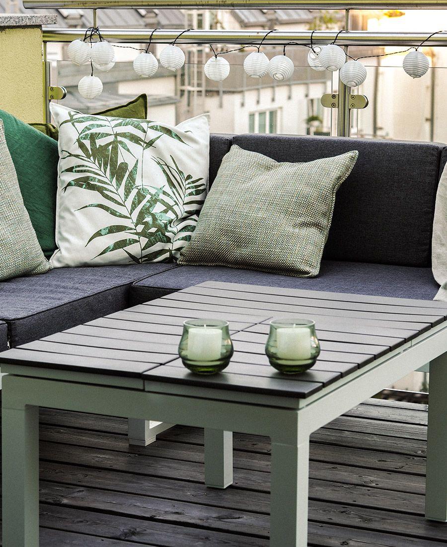 Balkon Makeover mit Leiner Sommer auf Balkonien