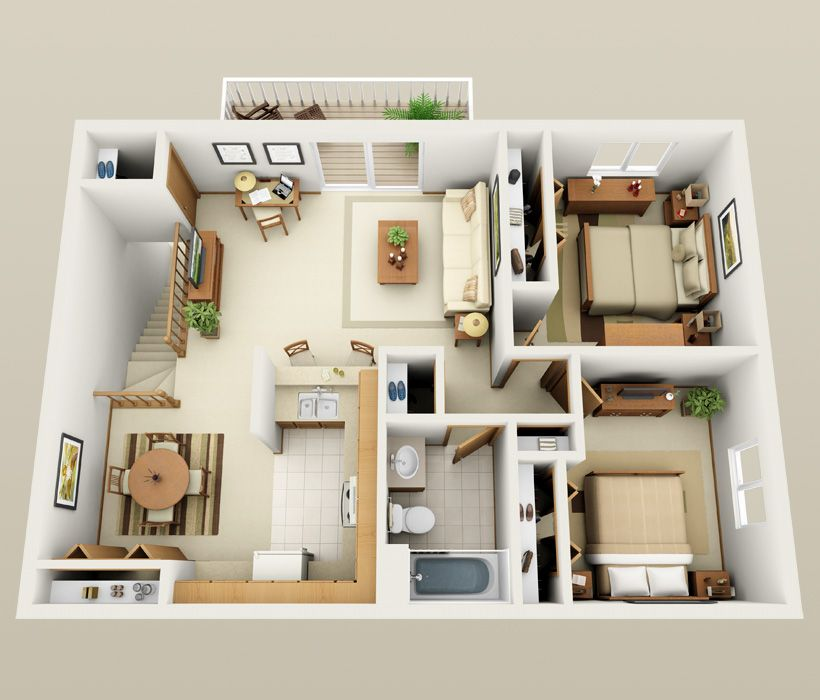 Second Floor Floor Plan At South Shore Point Apartments Small House Plans Sims House Plans Sims House Design