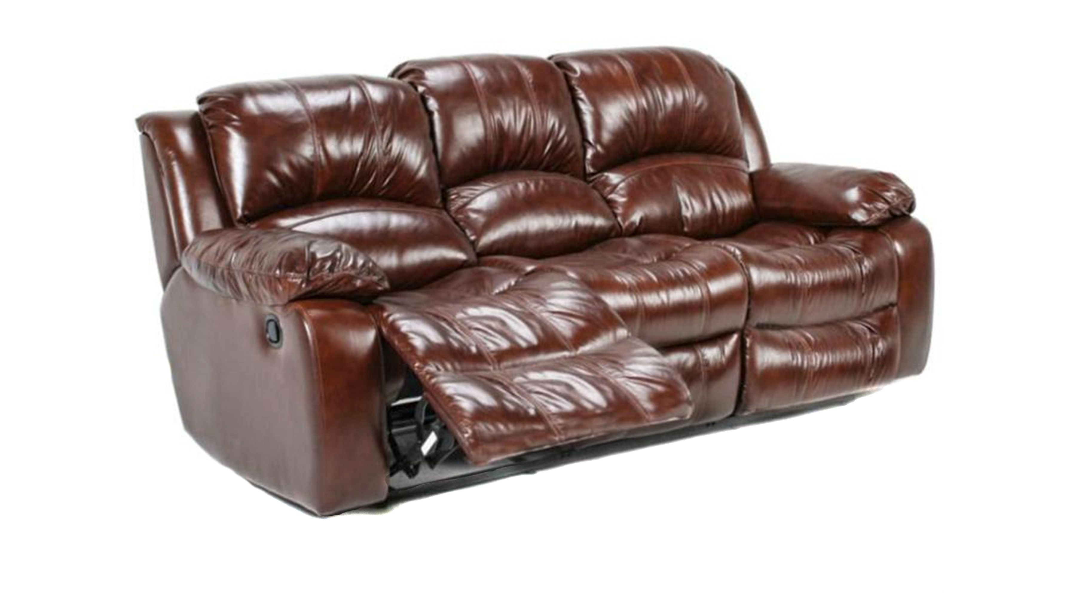 reclining sofa leather brown best rug color avalon power new living room