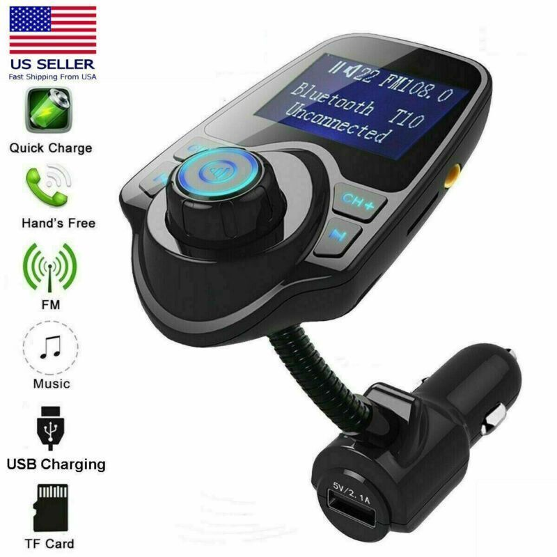 Car Kit MP3 Player Wireless Bluetooth FM Transmitter Radio With 2 USB Port to EC