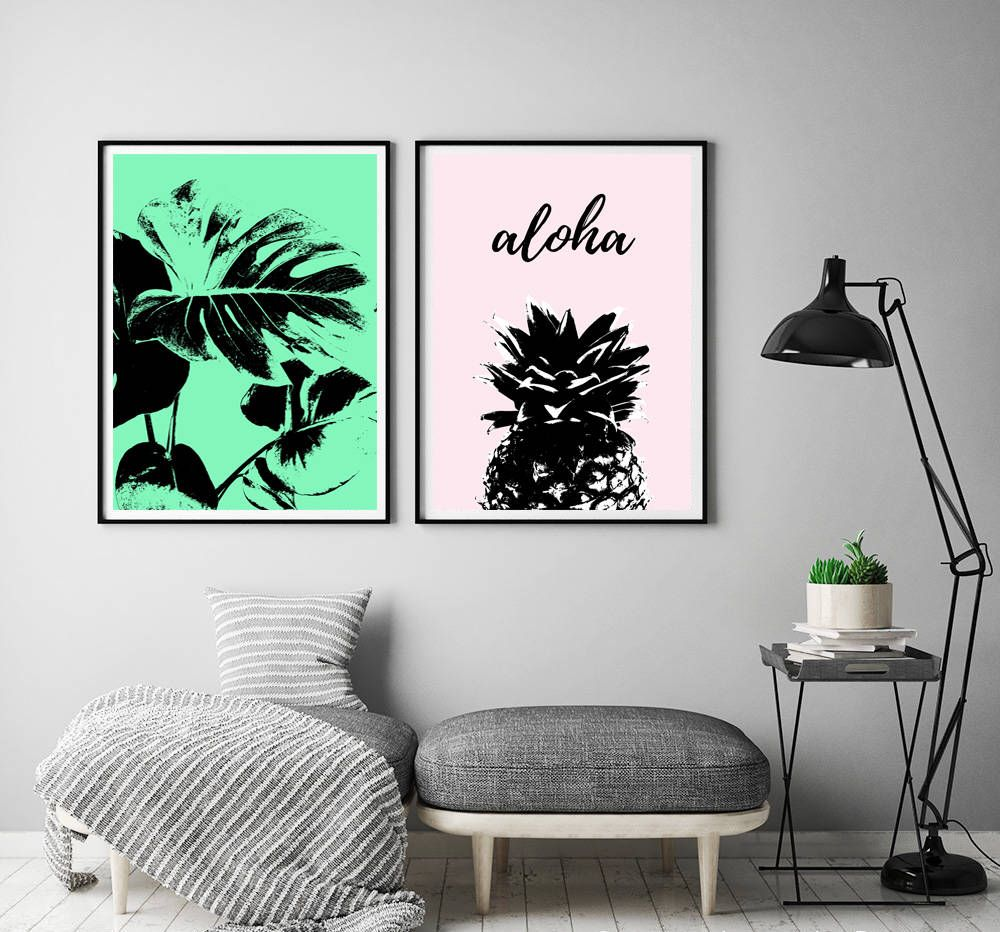 decorative lovely banana leaf decor art wall inspiration leaves palm of tropical print