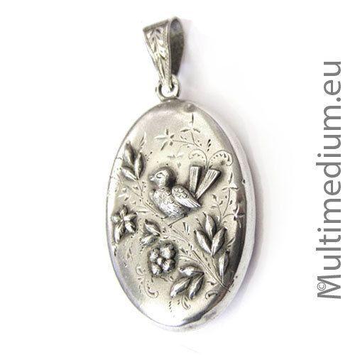 Jugendstil-Medaillon-Silber-Anhaenger-84-Pyetr-Basakov-Russia-silver-pendant-rare