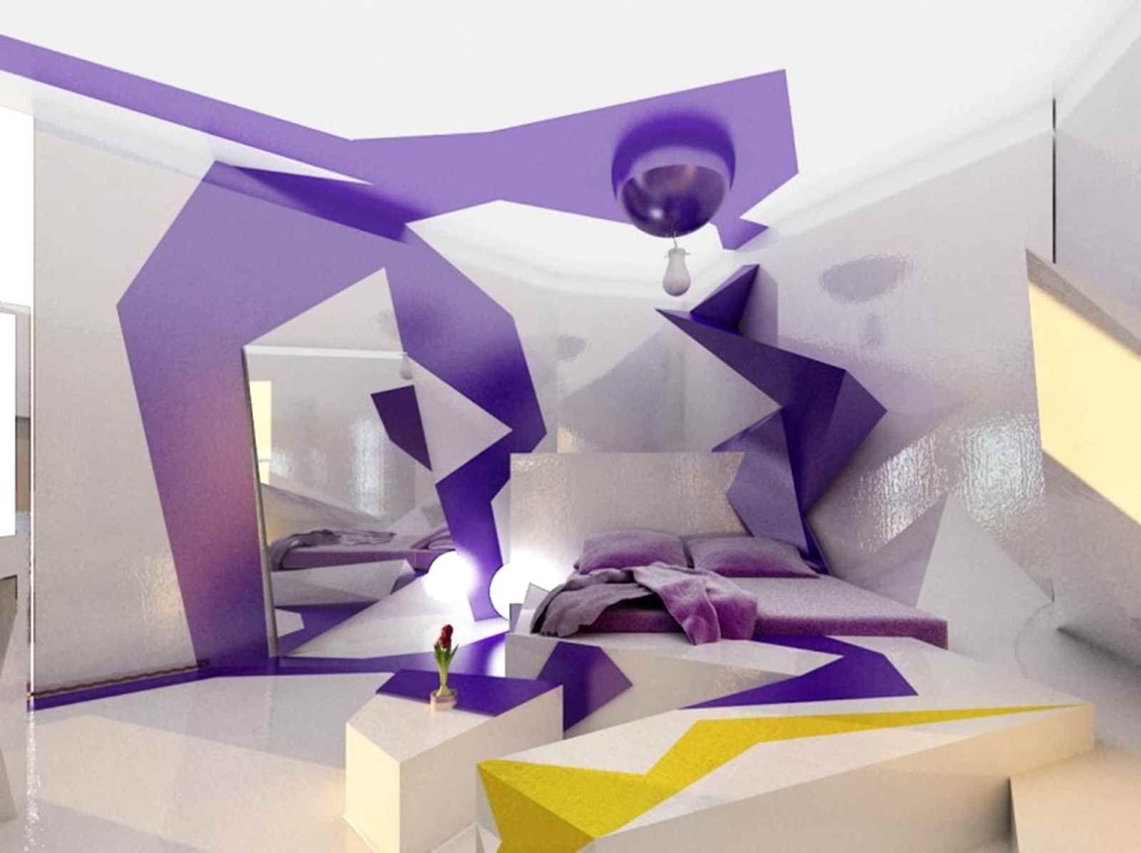 bedroom-fantastic-futuristic-teenage-color-contrast-for-kids-bedroom-decoration