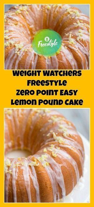 Weight Watchers Freestyle Zero Point Easy Lemon Pound Cake